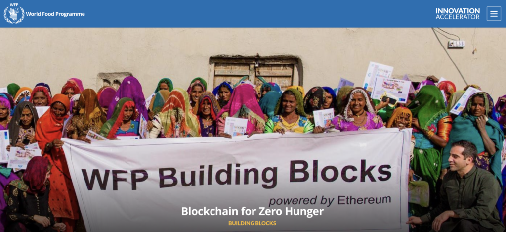 UN World Food Programme on the Blockchain